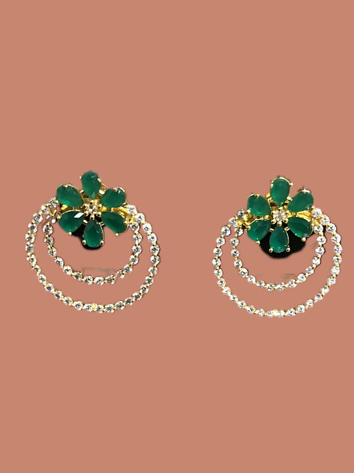 Gorgeous Green Stud Earring