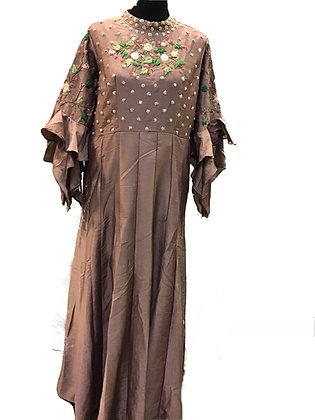 Chestnut color Silk Gown