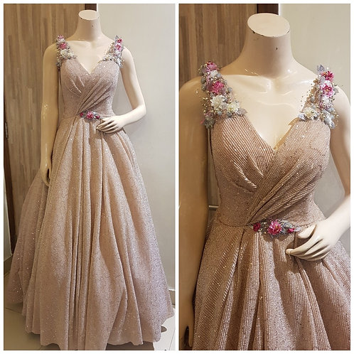 Blush Pink Party wear Gown