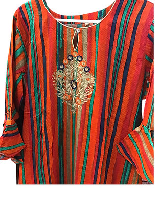 Beautiful Embroidery Cotton Kurti