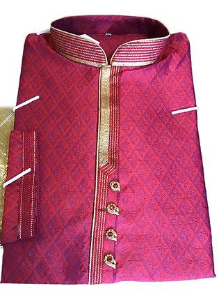 Aesthetic Red Kurta pajama Set