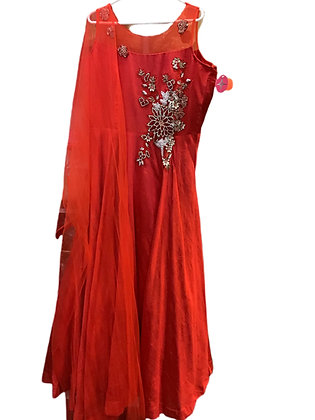 Red Abaya Style Suit in 3XL