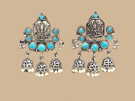 Sky Blue Jhumki Earring