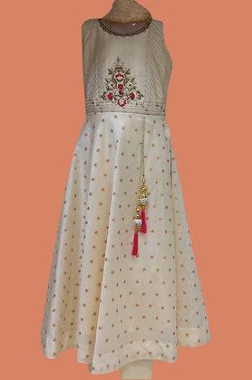 Beautiful Abaya Style Suit In Cream