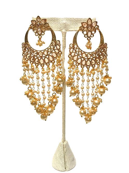 Kundan Chandelier Earring