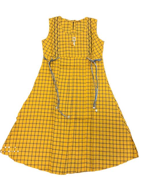Elegant A line Kurti in Yellow