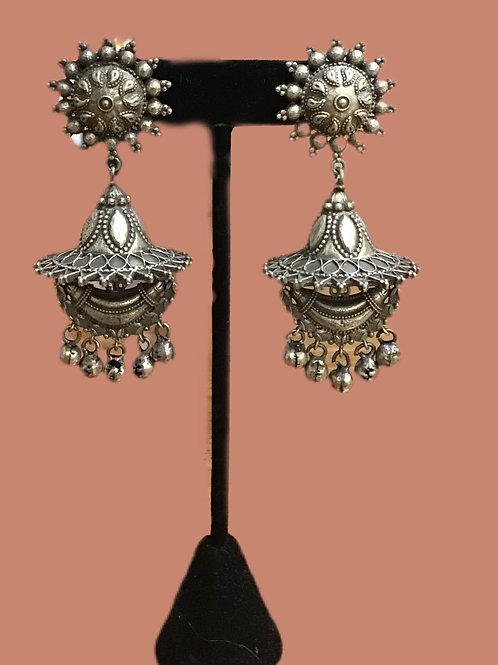 Pretty German silver long Earring