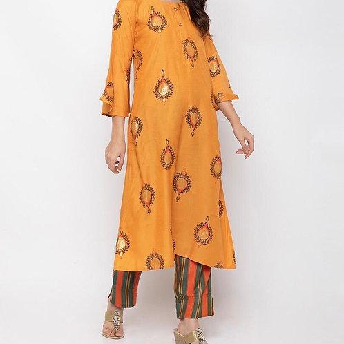 Beautiful Mustard Plazzo Suit Set