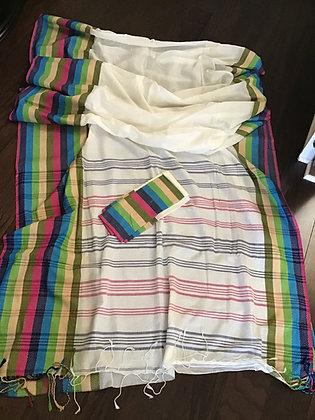 Elegant Handloom Khadi Cotton Weave Saree