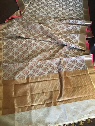 Elegant kora silk saree