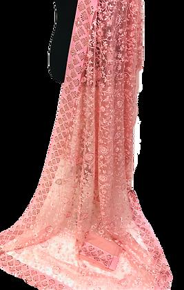 Pink Net Sare