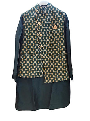 Majestic Green Kurta Pajama With Jacket