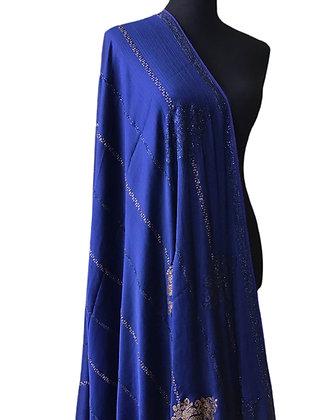 Splendid Blue Chiffon Silk Saree