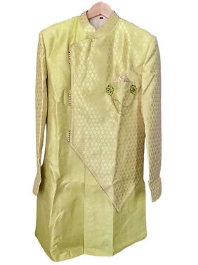 Marvelous Mint Green Indo-Western Sherwani