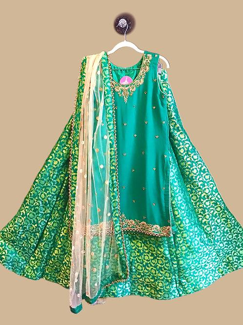 Designer Green Lehanga Choli
