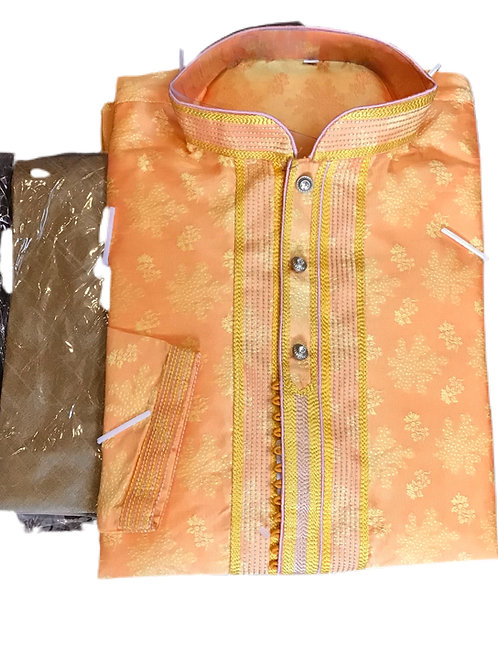Pretty Orange Kurta pajama Set
