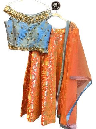 Beautiful Woven Silk Lehanga Choli
