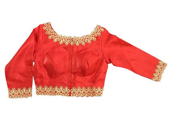 Beautiful Red Silk Blouse