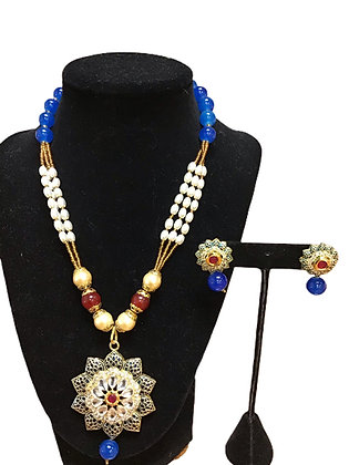 Contemporary Beads Necklace Set