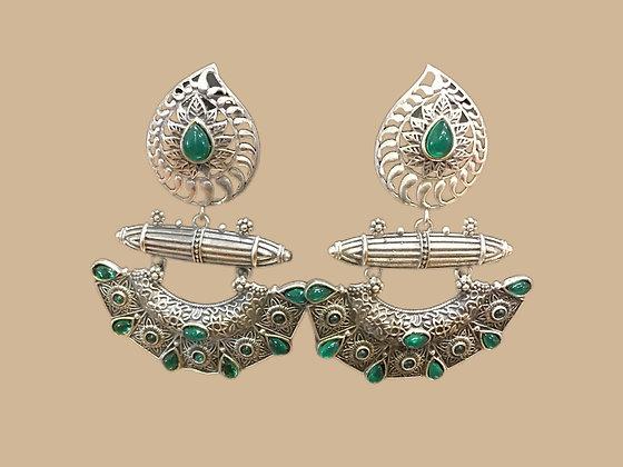 Charming Green Chandbali Earring