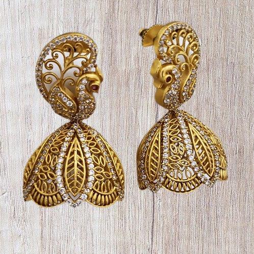 Gorgeous peacock Jhumka Earring