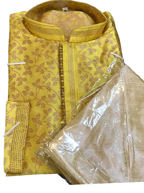 Timeless Yellow Kurta pajama Set