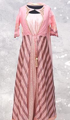 Pink Abaya Style Suit