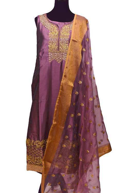 Purple Churidaar Suit Set