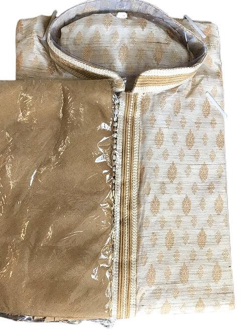 Elegant Cream Kurta pajama Set
