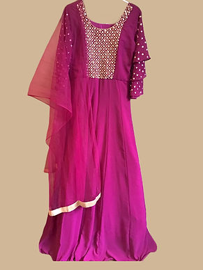 Beautiful Purple Abaya Style Salwar Suit