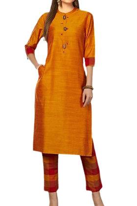 Orange Pant Suit Set
