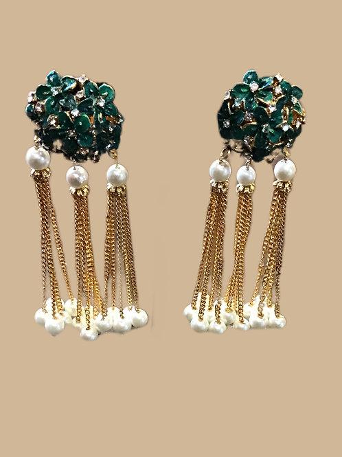 Green Chandelier Earring