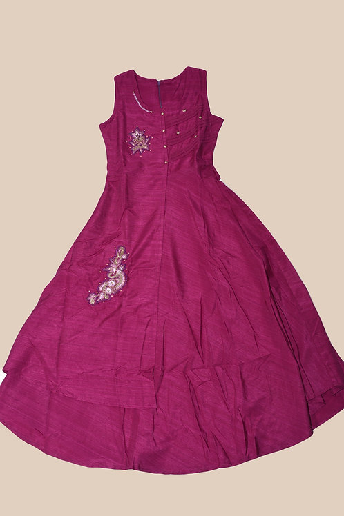 Girls Purple Gown