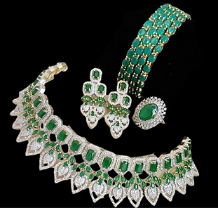Gorgeous AD Stones Green Choker Necklace