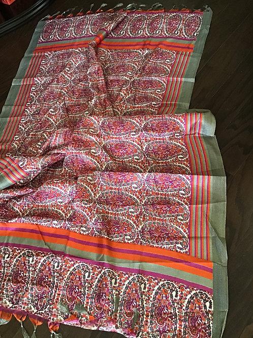 Beautiful Pink Art Silk Printed Dupatta