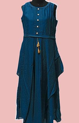 Designer Blue Flare Kurti