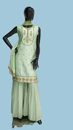 Mint Green Sharara Suit Set