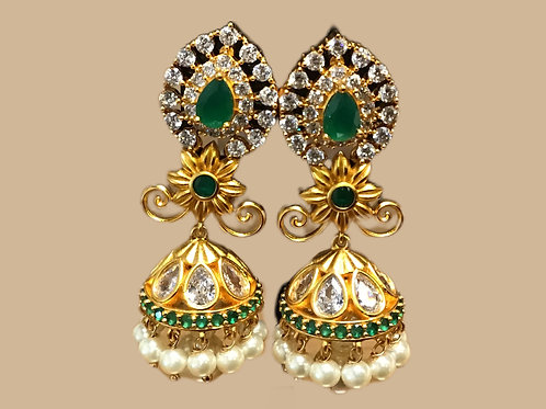Elegant Green Jhumka Earring