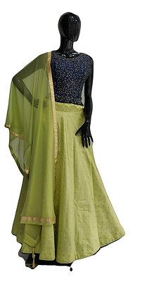 Green Blue Lehanga Choli