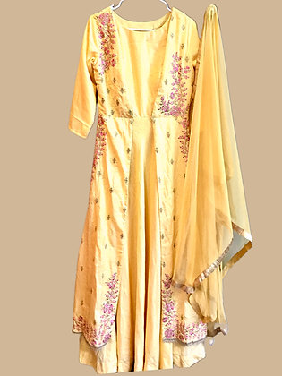 Gorgeous Yellow Flared Salwar Suit