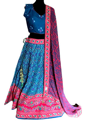 Beautiful Blue Lehanga Choli