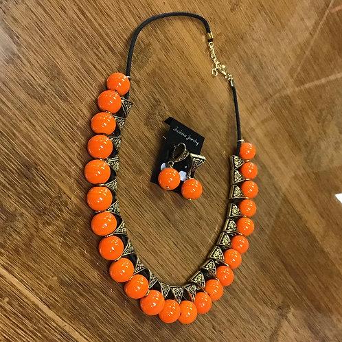 Contemporary Orange Necklace