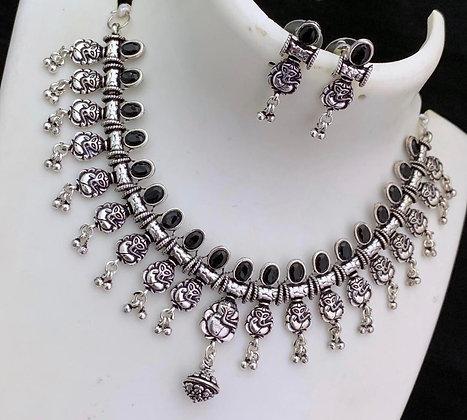 Oxidized German Silver Necklace
