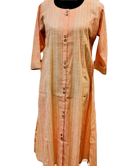 Khadi Cotton Straight Kurti
