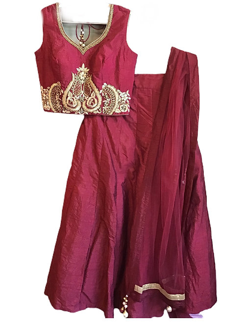 Royal Red Lehanga Choli