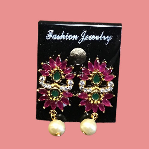 Pink Chandelier Earring