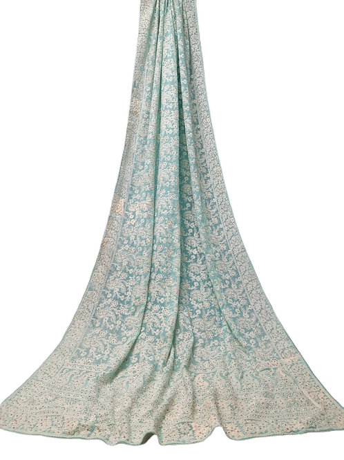 Gorgeous Georgette Saree with Lucknowi work