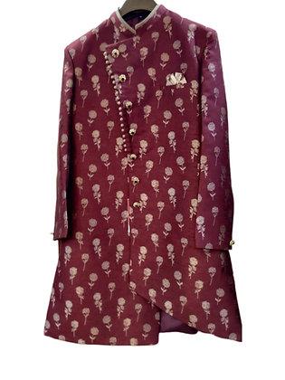 Enchanting Red  Indo-Western Kurta Pajama Set