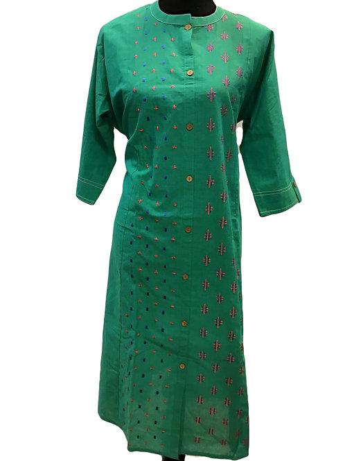 Green Cotton Kurti 4xl
