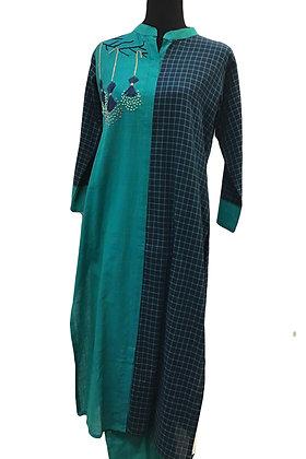 Rama Green Blue Pant Suit